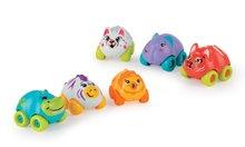 Živalca na koleščkih Eden Planet Smoby povodni konj, zebra, lev, slon, leopard, tiger 7 cm od 12 mes