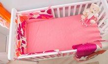 Napenjalna rjuha za posteljo Joy toTs-smarTrike zajček 2 kosa 100% bombažni saten rožnata
