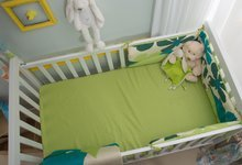 Napenjalna rjuha za posteljo Joy toTs-smarTrike zajček 2 kosa 100% bombažni saten zelena