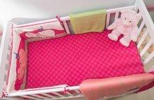 Napenjalna rjuha za posteljo Joy toTs-smarTrike hroch 2 kosa 100% bombaž saten rožnata