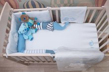 Napenjalna rjuha za posteljo Classic toTs-smarTrike ptički 2 kusy 100% jersey bombaž modra