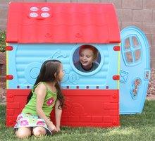 Domčeky pre deti - Domček Fairies Dream House PalPlay červeno-modrý od 24 mes_4