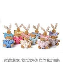 Plyšové zajace - Plyšový zajačik Plume-Mini Chubbies Kaloo 12 cm v darčekovom balení pre najmenších oranžový_4