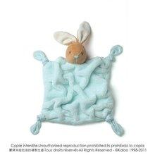 Plüss nyuszi babusgatásra Plume-Aqua Rabbit Doudou Kaloo 20 cm ajándékcsomagolásban legkisebbeknek türkíz