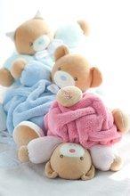 Plyšové medvede - Plyšový medvedík Plume-Blue Bear Kaloo 25 cm v darčekovom balení pre najmenších modrý_2