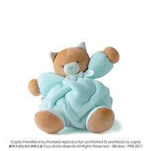 Plišasta mucka Plume-Aqua Cat Kaloo 25 cm v darilni embalaži za najmlajše turkizna