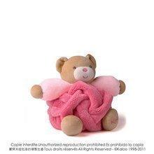 Plišasti medvedek Plume-Raspberry Bear Kaloo 18 cm v darilni embalaži za najmlajše rožnat
