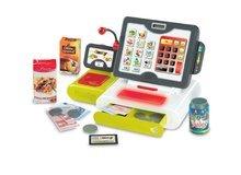 Obchody pre deti - Pokladňa Smoby elektronická s dotykovou obrazovkou, zvukom a 25 doplnkami zelená_3