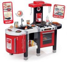 SMOBY 311201 piros-szürke játékkonyha TEFAL FrenchTouch BUBBLE mágikus forrással élelmiszerekkel + 45 kiegészítő