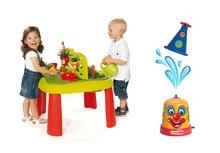 Set dětský stůl Zahradník De Jardinage 2v1 Smoby s plotem a stříkací vodní klaun od 2 let
