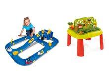 Set dětský stůl Zahradník De Jardinage 2v1 Smoby s plotem a vodní hra Waterplay Niagara od 2 let