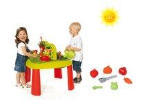 Set detský stôl Záhradník De Jardinage 2v1 Smoby s plotom a formičky s nástrojmi do piesku od 2 rokov