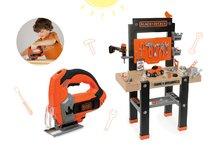 SMOBY 360701-8 set detská pracovná dielňa s vŕtačkou a elektronická kotúčová píla Black+Decker