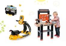 SMOBY 360701-17 set detská pracovná dielňa s vŕtačkou Black+Decker a elektronický trenažér Vtwin Biker