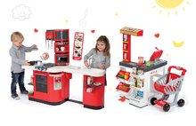 Set obchod pre deti Supermarket Smoby s elektronickou pokladňou a kuchynka Cook Master s ľadom