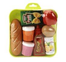 ÉCOIFFIER 1159 potraviny s kečupom cestovinami vajíčkom a rohlíkom na tácke od 18 mesiacov