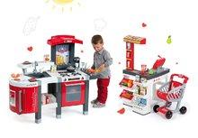 Obchody pre deti sety - Set obchod Market Smoby s elektronickou pokladňou a kuchynka rastúca Tefal Evolutive s ľadom a mikrovlnkou_63