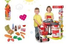 Set obchod pre deti City Shop Smoby s elektronickou pokladňou a potraviny v sieťke Bubble Cook