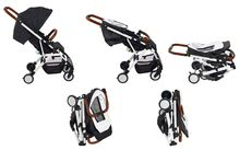 Kočíky - Športový kočík CityLink® III Red Castle skladací s bielou konštrukciou a 5-bodovým bezpečnostným pásom od 0 mesiacov_0