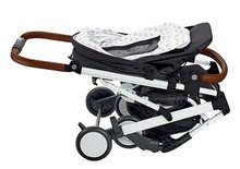 Kočíky - Športový kočík CityLink® III Red Castle skladací s bielou konštrukciou a 5-bodovým bezpečnostným pásom od 0 mesiacov_5