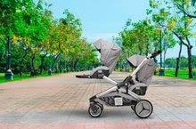 Kočíky - Kočík pre dve deti Red Castle Evolutwin® Grey polohovateľný s kompletnou výbavou a pršiplášťom_2
