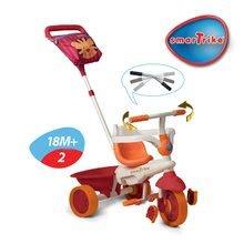 Trojkolky od 10 mesiacov - Trojkolka Safari Lev Touch Steering smarTrike červeno-oranžová od 10 mes_2
