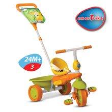 Trojkolky od 10 mesiacov - Trojkolka Safari Žirafa Touch Steering smarTrike zeleno-oranžová od 10 mes_2
