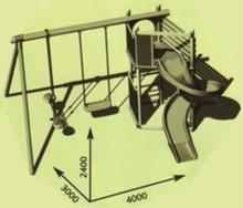 Centre de joacă - Loc de joacă din lemn Alpes Smoby cu Tobogan cu lungime de 320 cm_5
