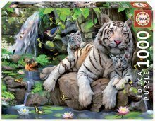 Puzzle White Tigers of Bengal Educa 1000 dielov od 12 rokov