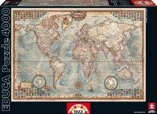 Puzzle 4000 - 8000 dielne - Puzzle The World Executive Map Educa 4000 dielov od 15 rokov_1