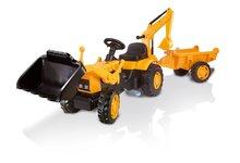 Produse vechi - Tractor cu pedale Power Builder Smoby cu remorcă, încărcător frontal și cupă galben_0