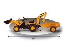 Produse vechi - Tractor cu pedale Power Builder Smoby cu remorcă, încărcător frontal și cupă galben_4