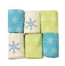 Flanel pelenkák toTs-smarTrike hópelyhek 6 darab 100% fésült pamut flanel zöld-kék