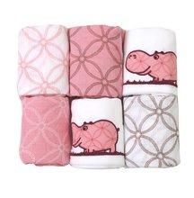 Bavlněné pleny toTs-smarTrike hroch 6 kusů 100% přírodní bavlna růžové