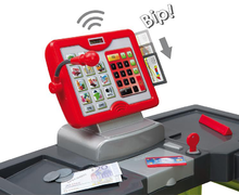 Obchody pre deti - Obchod City Shop Smoby s elektronickou pokladňou a vozíkom so 44 doplnkami_0