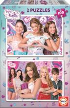 EDUCA 15769 Puzzle Cardboard Violetta, 2*100 ks, 40*28 cm