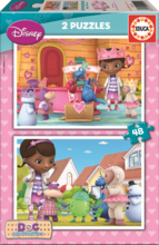 Gyerek puzzle Dr. Plüssi Educa 2x48 db