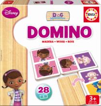 Dřevěné domino Doktorka McStuffins Educa 28ks