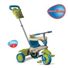 Trojkolky od 10 mesiacov - Trojkolka Vanilla Touch Steering smarTrike zeleno-modrá od 10 mes_2