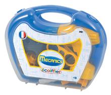 ÉCOIFFIER 2401 modrý kufrík s vŕtačkou a náradím Mecanics so 17 doplnkami