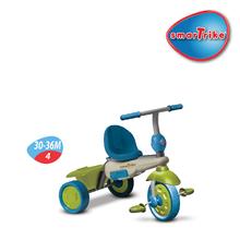 Trojkolky od 10 mesiacov - Trojkolka Vanilla Touch Steering smarTrike zeleno-modrá od 10 mes_4