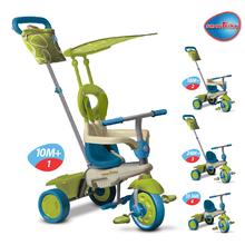 Trojkolky od 10 mesiacov - Trojkolka Vanilla Touch Steering smarTrike zeleno-modrá od 10 mes_1