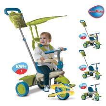 Trojkolky od 10 mesiacov - Trojkolka Vanilla Touch Steering smarTrike zeleno-modrá od 10 mes_0