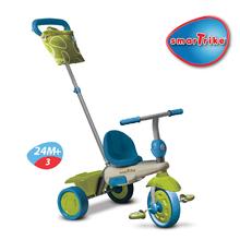 Trojkolky od 10 mesiacov - Trojkolka Vanilla Touch Steering smarTrike zeleno-modrá od 10 mes_3