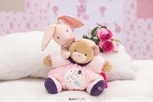 Handrové bábiky - Plyšový zajačik bábika Petite Rose-Musical Doll Kaloo v sukničke spievajúci 30 cm v darčekovom balení pre najmenších_2