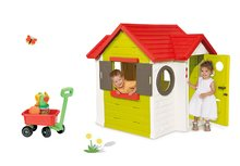 Set detský domček My House Smoby s elektronickým zvončekom a vozík na ťahanie s vedro setom od 2 rokov