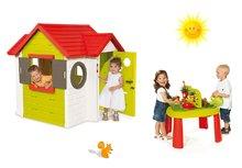 Set domček pre deti My House Smoby s elektronickým zvončekom a stôl Záhradník De Jardinage od 2 rokov