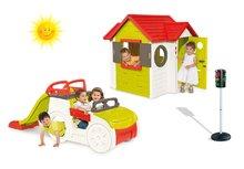 Set domček My House Smoby so zvončekom, preliezačka Adventure Car so šmykľavkou dlhou 150 cm a automatický semafor od 2 rokov