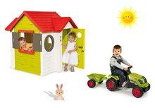 Set domček pre deti My House Smoby s elektronickým zvončekom a traktor Claas GM s prívesom od 2 rokov