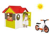 Set domček My House Smoby s elektronickým zvončekom a balančné odrážadlo Learning Bike od 2 rokov